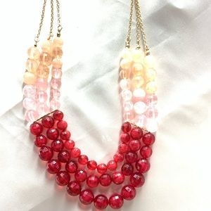 NEW‼️Charming Charlie pink+red necklace+ earrings